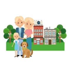 parents with daughter icon Family design City vector image
