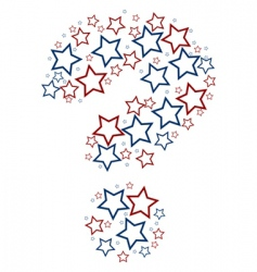 question mark stars vector image vector image
