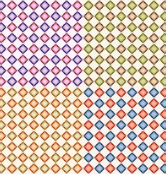 set of abstract geometric seamless background vector image vector image