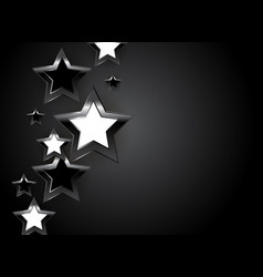 abstract glossy star background vector image