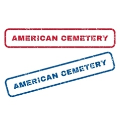 American cemetery rubber stamps vector
