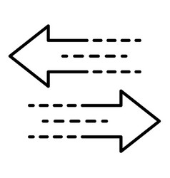 Arrow double direction icon outline style vector