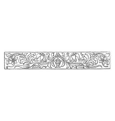 Banner have a floral design with a small unknown vector