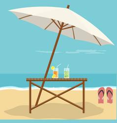 beach landscape design vector image
