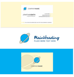 beautiful planet logo and business card vertical vector image