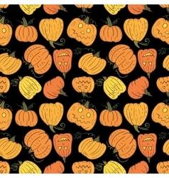 Black Halloween Pumpkin Pattern vector image