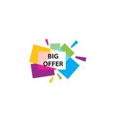 blank banner discount label vector image