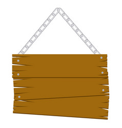 Brown wood sign icon image vector