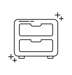 Cabinet furniture office line icon style vector