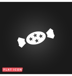Candy flat icon vector image