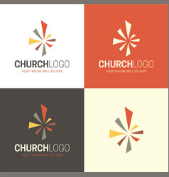 Christian church logo and icon vector