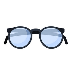classic glasses icon flat style vector image