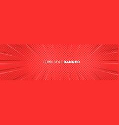 comics rays pop art banner background vector image