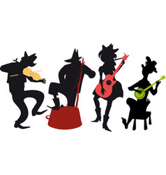 country western jug band vector image