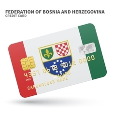 Credit card with federation of bosnia vector