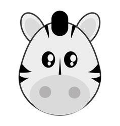 Cute zebra cartoon icon vector