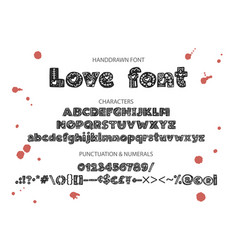 decorative valentines display font vector image