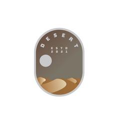desert logo badge vector image