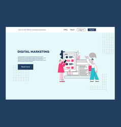 digital marketing poster template ux ui vector image