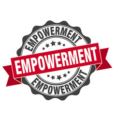Empowerment stamp sign seal vector