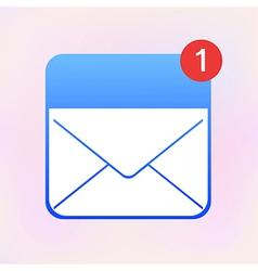 envelope app icon Eps10 vector image
