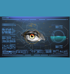 Eye in process scanning biometric scan vector