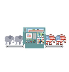 Factory Republican America Republican Elephant vector