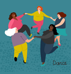 fatty international women get dance vector image