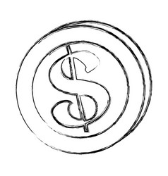 figure coins money save vector image