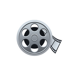 film reel and filmstrip design vector image