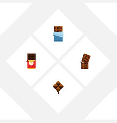 flat icon sweet set of delicious wrapper bitter vector image