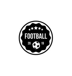 football badge in a circle and shield with ball vector image