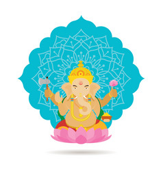 Ganesha hindu god or deity vector