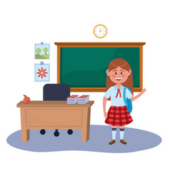Girl kid school design vector