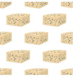 Gorgonzola seamless pattern italian cheese vector
