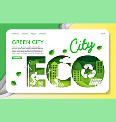 green city website landing page template vector image