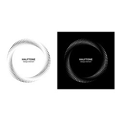Halftone circle dotted frame logo emblem vector