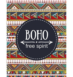 Hand drawn Boho style card Tribal design vector