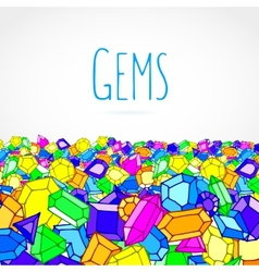 Hand drawn doodle gems vector