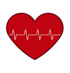 Isolated hearth icon vector