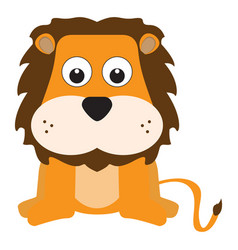 isolated stuffed lion toy vector image
