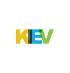kiev phrase overlap color no transparency concept vector image