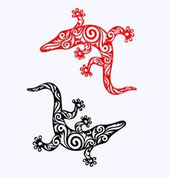 Lizard ornate vector image