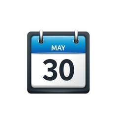 May 30 Calendar icon flat vector