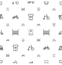 Newborn icons pattern seamless white background vector