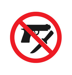 No weapons allowed sign red ban signs images vector