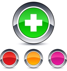 plus round button vector image vector image