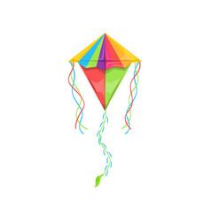rainbow kite isolated uttarayan festival symbol vector image