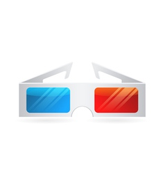 Realistic paper cinema 3Dglasses isolated on white vector image