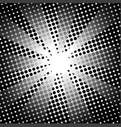retro rays comic black white background vector image